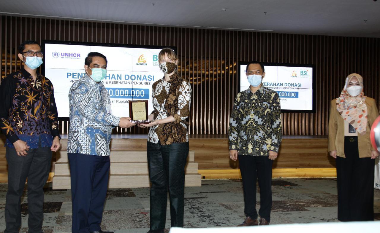 Bank Syariah Indonesia (BRIS) Gelontorkan Zakat Pengungsi UNHCR Rp1 Miliar